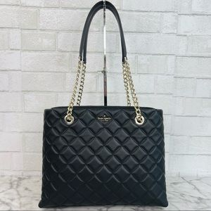 Kate Spade Natalia Quilted Smooth Leather Tote Shoulder Bag